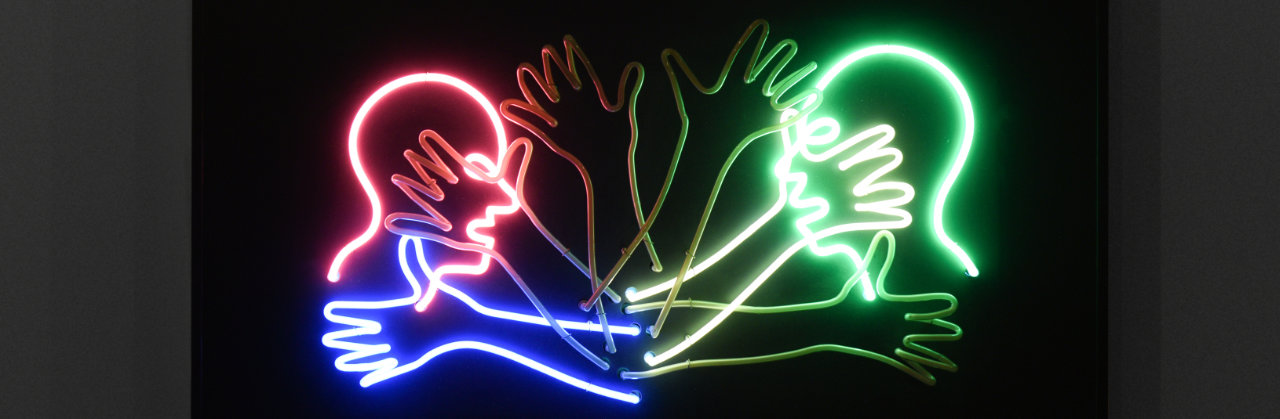 Bruce Nauman, Double Slap in the Face, 1985, neon tubing mounted on metal monolith, 80 x 127 x  20 cm, Edition 5/5, Sammlung Froehlich, Stuttgart | © www.frankvinken.com